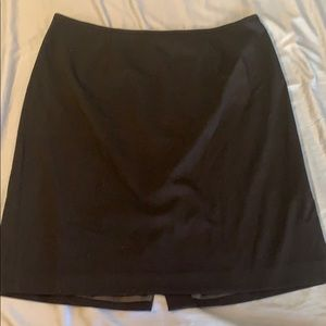 Calvin Klein Size 16W black pencil suit skirt